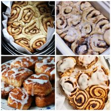 Four Fabulous Recipes for Slow Cooker Cinnamon Rolls top photo collage