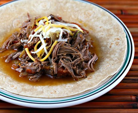 Slow Cooker Cuban-Style Ropa Vieja Recipe from The Perfect Pantry featured on SlowCookerFromScratch.com