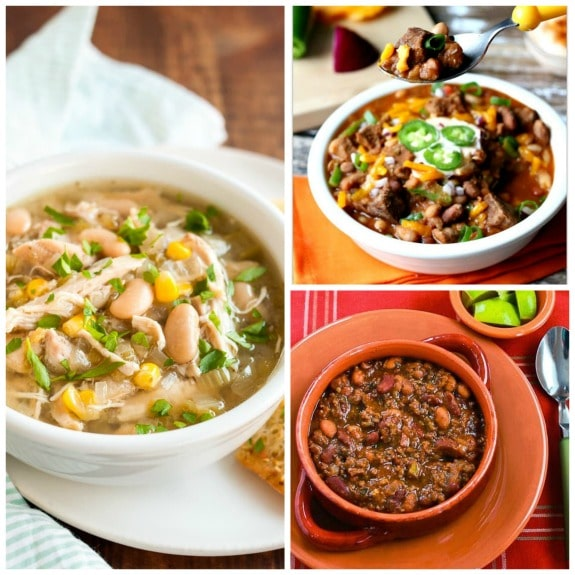 The Best Slow Cooker Chili Recipes featured on SlowCookerFromScratch.com