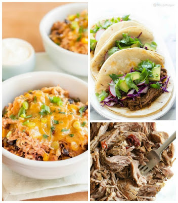 The Best  Slow Cooker Mexican Recipes featured on SlowCookerFromScratch.com