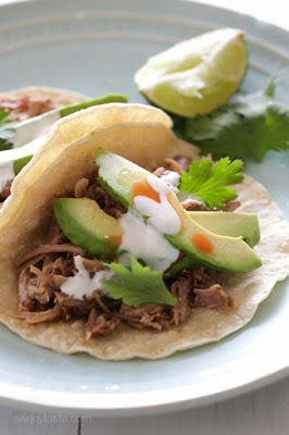 Slow Cooker (or Instant Pot) Mexican Pork Carnitas from Skinnytaste found on SlowCookerFromScratch.com