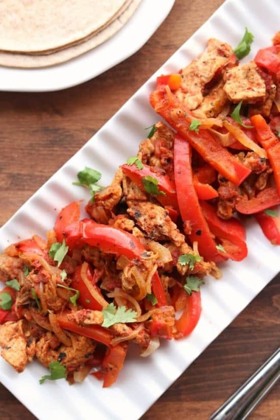 Instant Pot or Slow Cooker Pork Chop Fajitas from 365 Days of Slow + Pressure Cooking