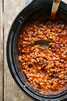 The BEST Slow Cooker Baked Beans from Food Bloggers found on SlowCookerFromScratch.com