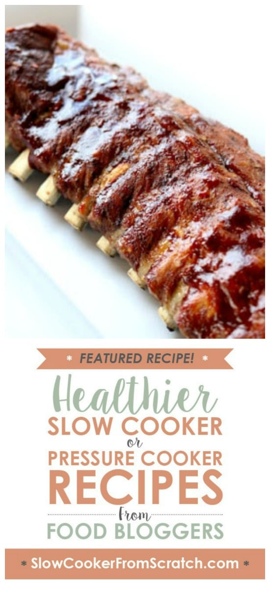 Instant Pot or Slow Cooker St. Louis Baby Back Pork Ribs from 365 Days of Slow Cooking featured on Slow Cooker or Pressure Cooker at SlowCookerFromScratch.com