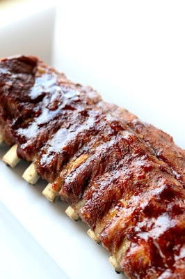 Instant Pot or Slow Cooker St. Louis Baby Back Pork Ribs from 365 Days of Slow Cooking featured on SlowCookerFromScratch.com