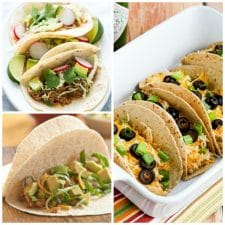 The BEST Slow Cooker Chicken Tacos from Food Bloggers featured on Slow Cooker or Pressure Cooker at SlowCookerFromScratch.com