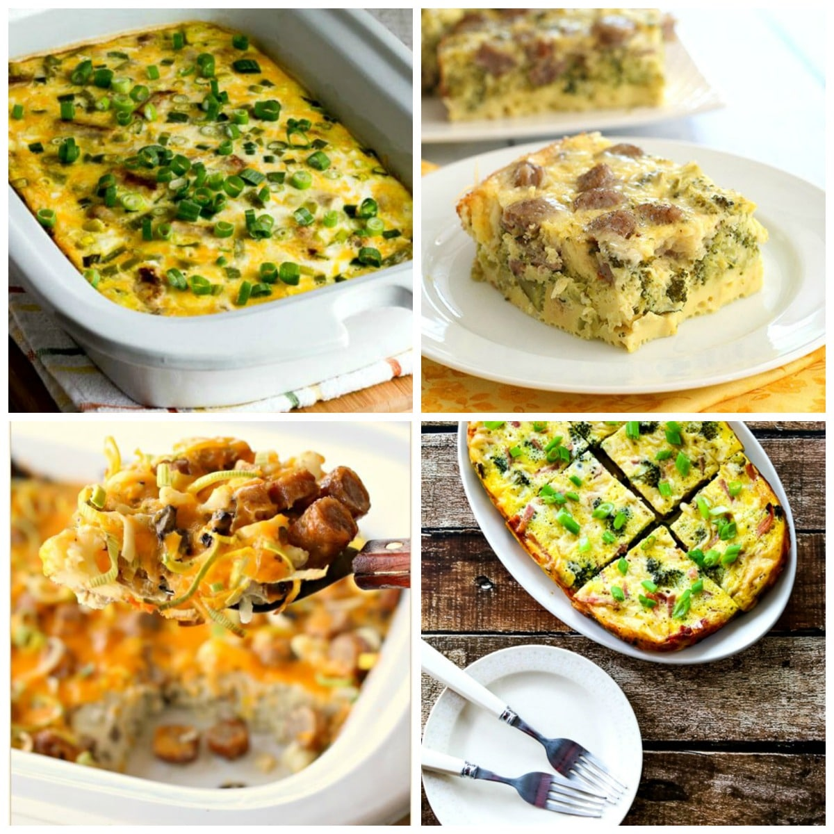 Low-Carb Slow Cooker Breakfast Casseroles top photo collage