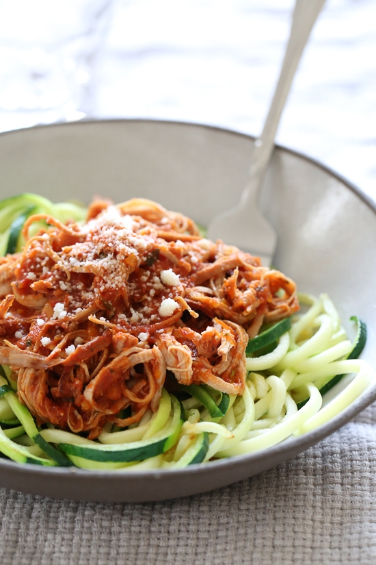 Instant Pot or Slow Cooker Italian Pulled Pork Ragu from Skinnytaste featured on Slow Cooker or Pressure Cooker at SlowCookerFromScratch.com