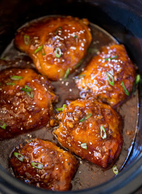 The BEST Instant Pot or Slow Cooker Teriyaki Chicken featured on SlowCookerFromScratch