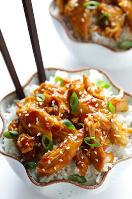 The BEST Instant Pot or Slow Cooker Teriyaki Chicken featured on SlowCookerFromScratch.com