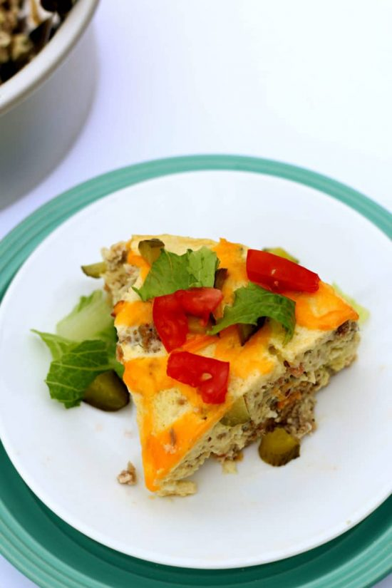 Slow Cooker Cheeseburger Breakfast Casserole from 365 Days of Slow + Pressure Cooking