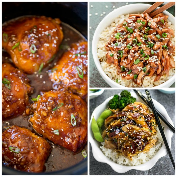 The BEST Instant Pot or Slow Cooker Teriyaki Chicken featured on Slow Cooker or Pressure Cooker at SlowCookerFromScratch.com