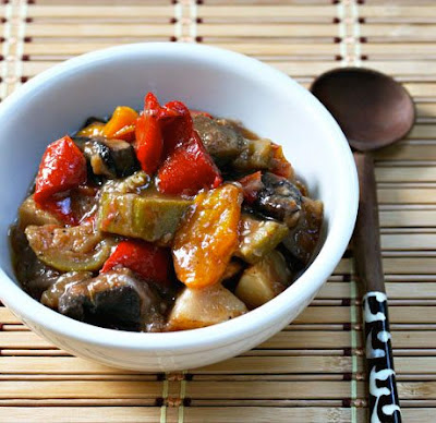 Slow Cooker Ratatouille from The Perfect Pantry found on SlowCookerFromScratch.com