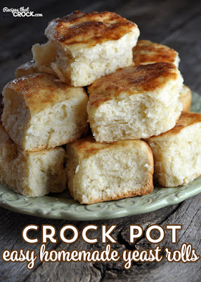 Crock Pot Easy Homemade Yeast Rolls from Recipes that Crock featured for Casserole Crock Saturdays on SlowCookerFromScratch.com