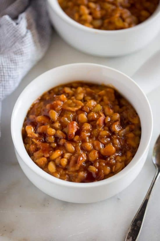 The BEST Instant Pot or Pressure Cooker Baked Beans Recipes found on Slow Cooker or Pressure Cooker at SlowCookerFromScratch.com