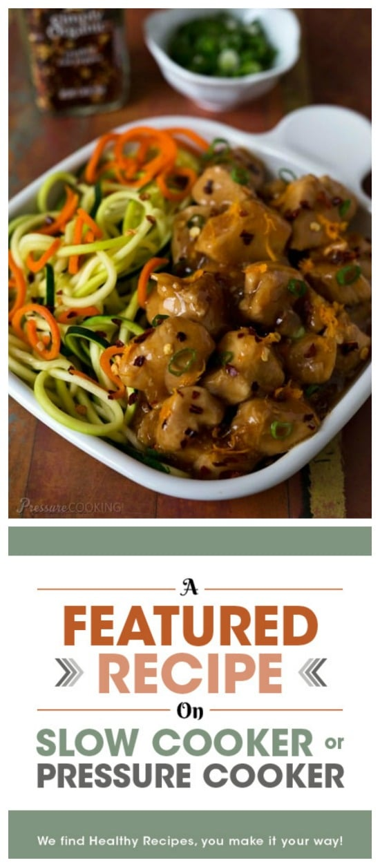 Pressure Cooker Orange Chicken from Pressure Cooking Today featured on Slow Cooker or Pressure Cooker