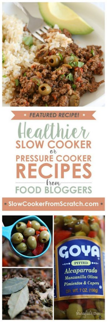 CrockPot, Instant Pot, or Stovetop Cuban Picadillo from Skinnytaste featured on SlowCookerFromScratch.com