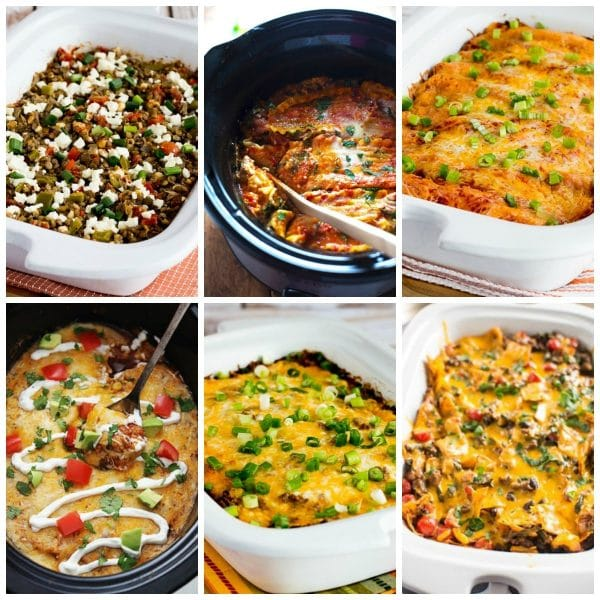 25+ Slow Cooker Casseroles for Easy Dinners collage photo