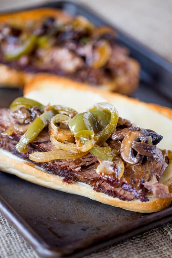 The Best Slow Cooker and Pressure Cooker Philly Cheesesteak Recipes featured on Slow Cooker or Pressure Cooker at SlowCookerFromScratch.com