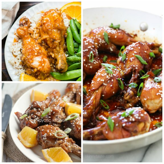 The BEST Slow Cooker or Instant Pot Chicken Drumsticks Recipes featured on Slow Cooker or Pressure Cooker at SlowCookerFromScratch.com