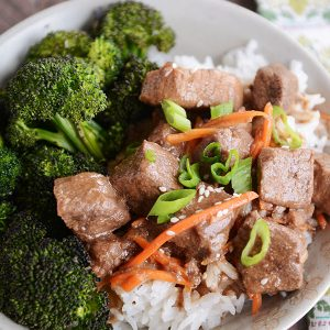 Slow Cooker or Instant Pot Korean Beef from Mel's Kitchen featured on SlowCookerFromScratch.com