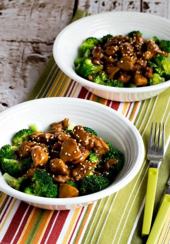 Slow Cooker Asian Chicken Broccoli Bowl from Kalyn's Kitchen