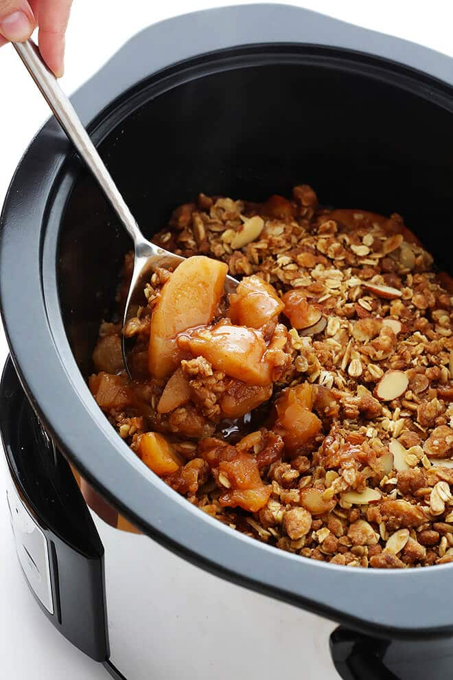 Slow Cooker Apple Crisp from Gimme Some Oven