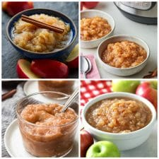 Slow Cooker and Instant Pot Applesauce Recipes top photo collage