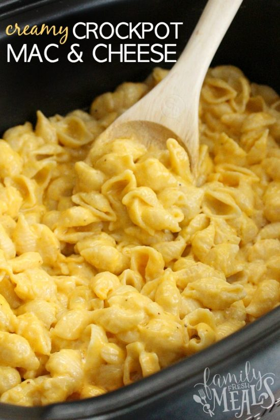 The BEST Creamy Crockpot Mac and Cheese from Family Fresh Meals