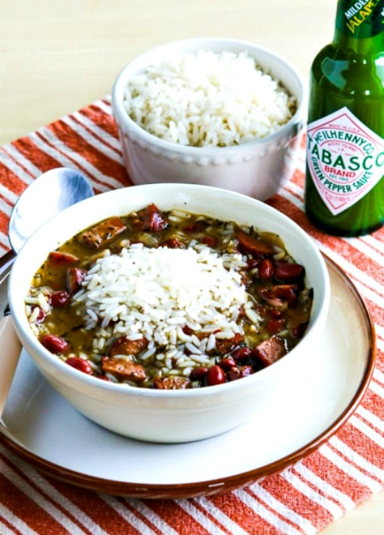 Slow Cooker Red Beans and Rice Soup from Kalyn's Kitchen