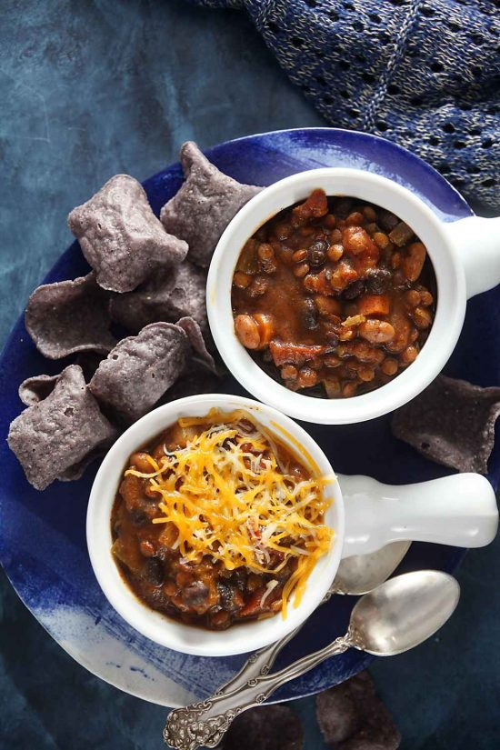 Slow Cooker Pumpkin Lentil Chili from Healthy Delicious