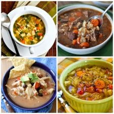 Cook-All-Day Slow Cooker Soups top photo collage