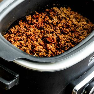 slow cooker browns-in-the-crockpot spicy ground beef for tacos from Kalyn's Kitchen featured on slow cooker or pressure cooker at slowcookerfromscratch.com