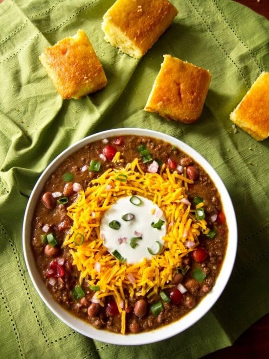 The BEST Instant Pot Chili Recipes featured on Slow Cooker or Pressure Cooker at SlowCookerFromScratch.com