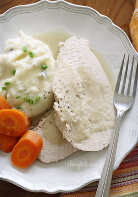 Crock Pot Turkey Breast with Gravy from Skinnytaste