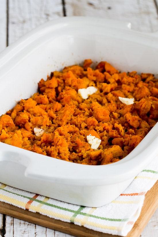 Spicy Crockpot Sweet Potatoes from Kalyn's Kitchen