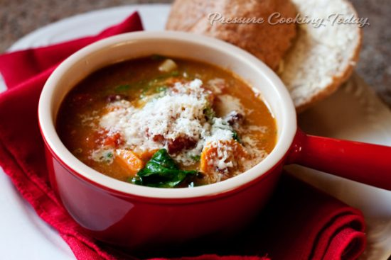 The BEST Instant Pot Vegetarian and Vegan Soup Recipes featured on Slow Cooker or Pressure Cooker at SlowCookerFromScratch.com