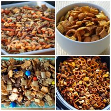 The BEST Slow Cooker Chex Mix from Food Bloggers photo collage
