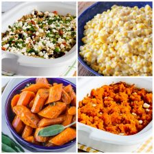 Slow Cooker Side Dish Recipes top photo collage