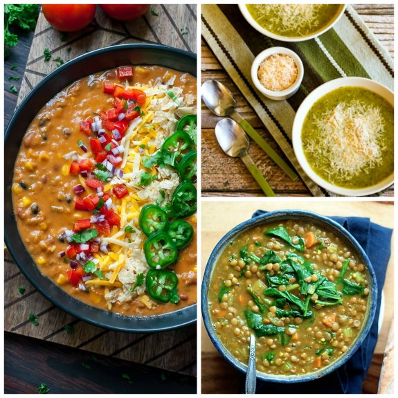 The BEST Instant Pot Vegetarian and Vegan Soup Recipes found on Slow Cooker or Pressure Cooker at SlowCookerFromScratch.com