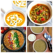 Instant Pot Vegetarian and Vegan Soup Recipes top photo collage