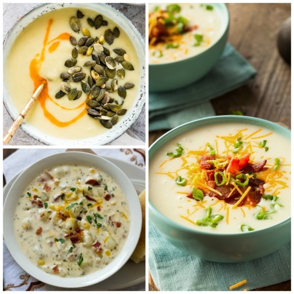 The BEST Instant Pot Potato Soup Recipes found on Slow Cooker or Pressure Cooker at SlowCookerFromScratch.com