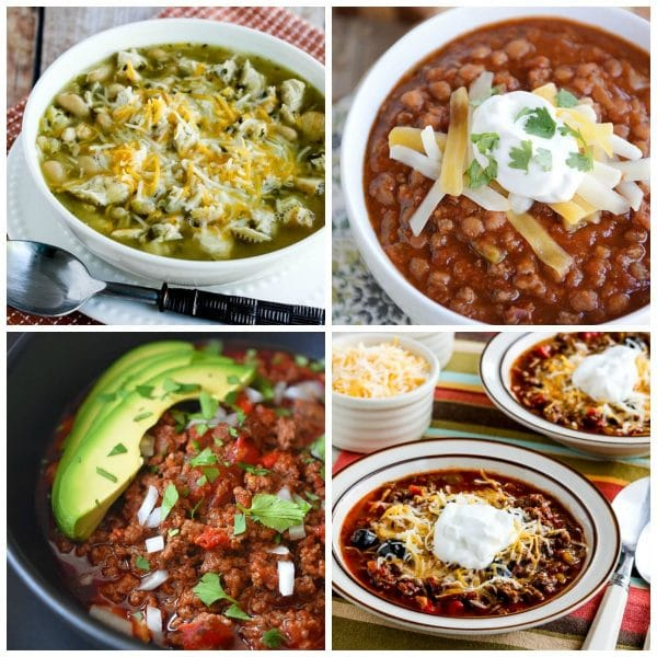 The BEST Instant Pot Chili Recipes collage photo