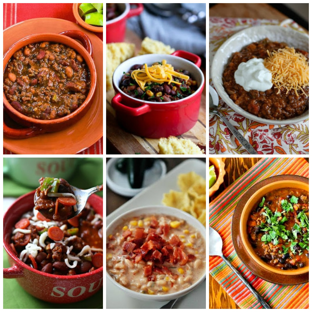 Best Slow Cooker Chili Recipes photo collage