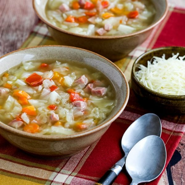 Instant Pot Ham and Cabbage Soup thumbnail image from Kalyn's Kitchen