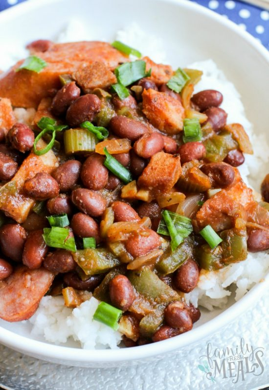 CrockPot Red Beans and Rice from Family Fresh Meals