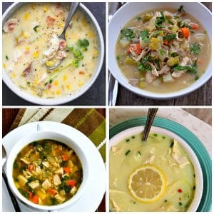 Slow Cooker Chicken Soup Recipes top photo collage