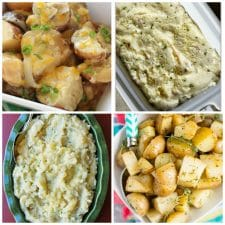 The BEST Slow Cooker Potatoes Recipes top photo collage