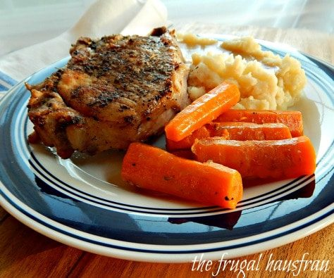 The BEST Instant Pot Pork Chops featured on Slow Cooker or Pressure Cooker at SlowCookerFromScratch.com