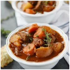 Italian Beef Stew(Instant Pot or Slow Cooker) from Your Home Based Mom featured on Slow Cooker or Pressure Cooker at SlowCookerFromScratch.com